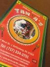 The menu features the restaurant's namesake, Tania!