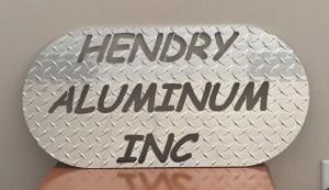 Plasma Cut Hendry Aluminum Sign