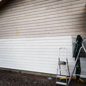 Jag har gravt underskattat hur roligt det är att måla huset. Vem som helst kan få komma och testa och ha skitroligt samtidigt!