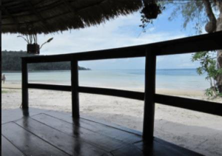 Meidän bungalowin näkymä merelle