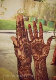 henna and family days before the wedding