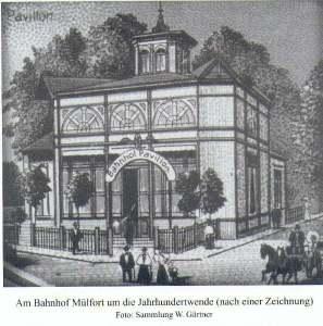 Bahnhof Mülfort um 1900