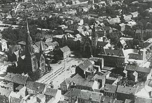 Luftaufnahme Stadtkern Rheydt 1936