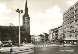 Marienplatz mit Marienkirche 1960