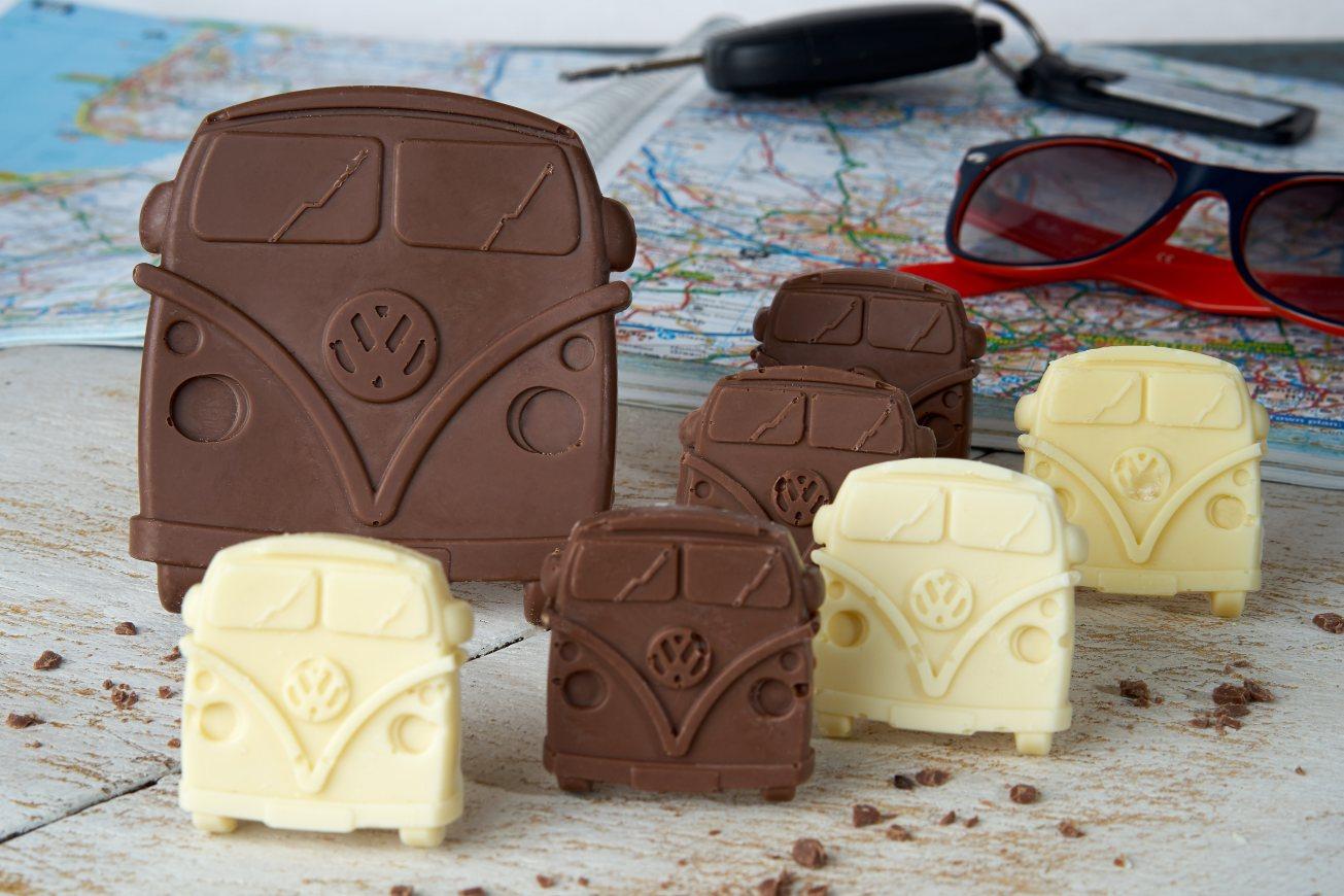 Chocolate VW camper van