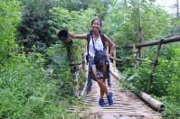 Jembatan bambu menjelang kampung