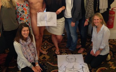 Hen Party Life Drawing Session in City of Bath UK