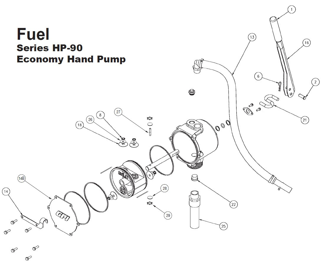 Gpi 43 Is A Handle Grip For Hp 90 Economy Hand Pump