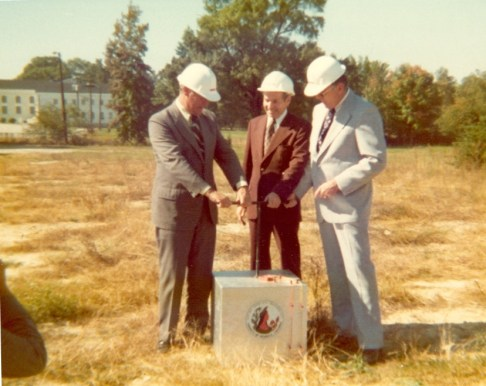 Groundbreaking, fall 1975