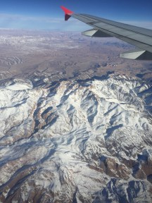 Waking up and flying over Afghanistan