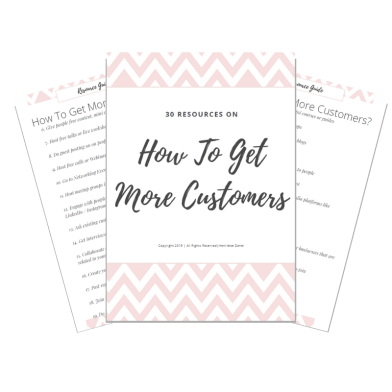 how to get more customers