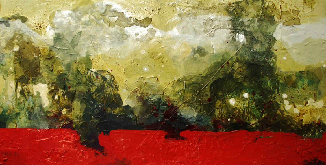 Rødt land 45 x 88 cm