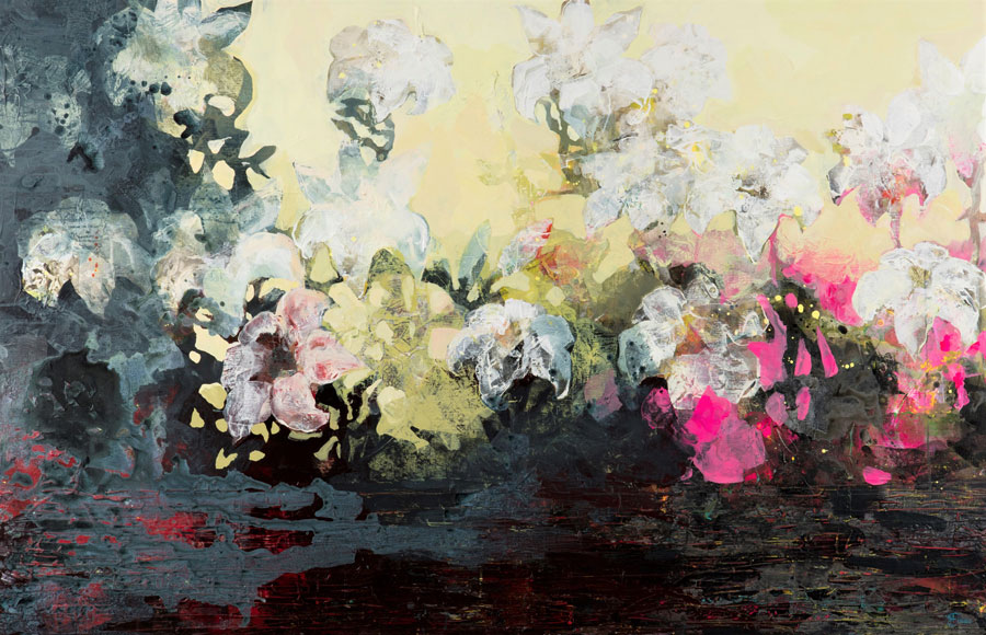 Lillies II: The earth will once again occur 110 X 170 cm