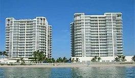 High-rise condominiums on a beach