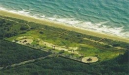 Aerial view of a large seaside empty lot