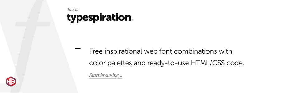 Having a Font Blackout? Check out Typespiration