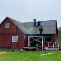 Idag målades taket!