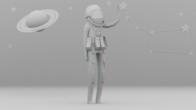 Cosmonaut Game Character - Armature – Stage 2 – Model – No Texture – Wip – 2015