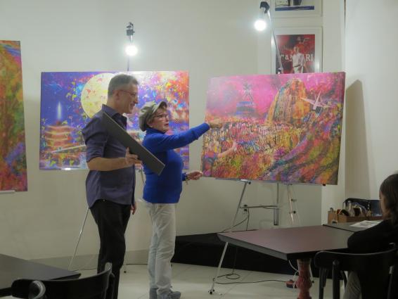 Participante compartilha as emoções despertadas pela pintura escolhida dentre as obras de Henrique Vieira Filho