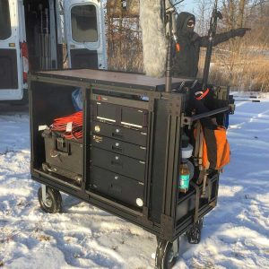 Custom Built 8020 Film Production Sound Cart