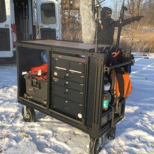 Custom Built 8020 Film Production Sound Cart