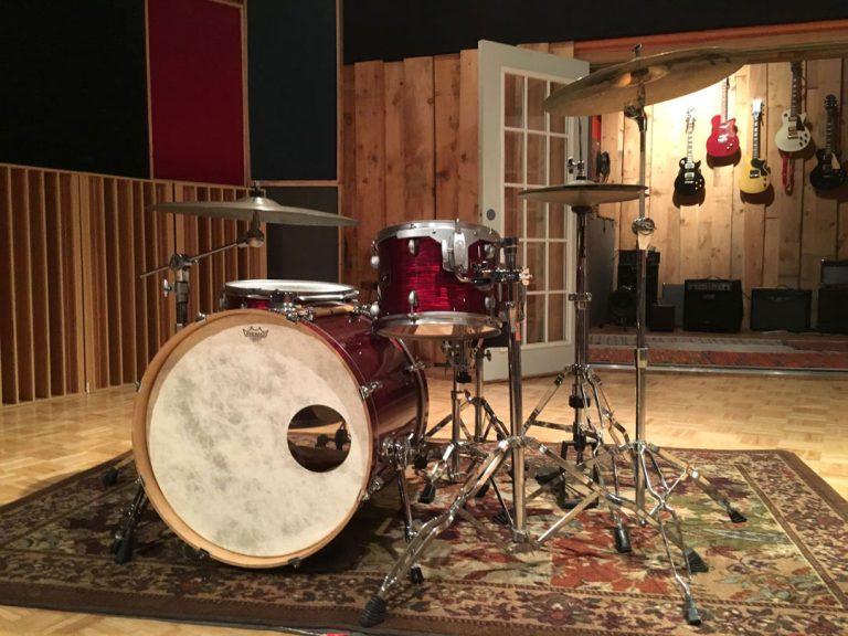 Drum Set in Large Live Room