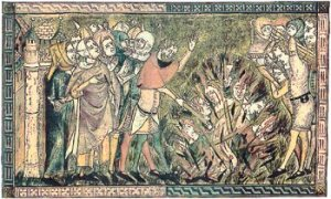 Jews Burned to Death in Strasbourg, c. 1349. Source: Wikimedia Commons.