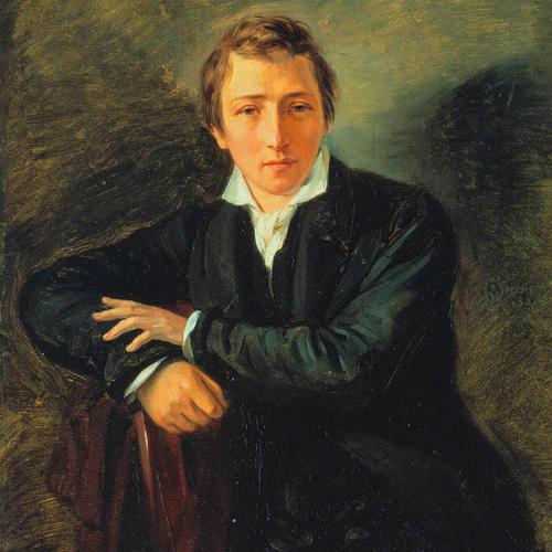 Heinrich Heine, portrait by Moritz Daniel Oppenheim via Wikimedia Commons.