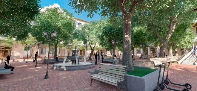 Plaza Fundadores in Porta Norte