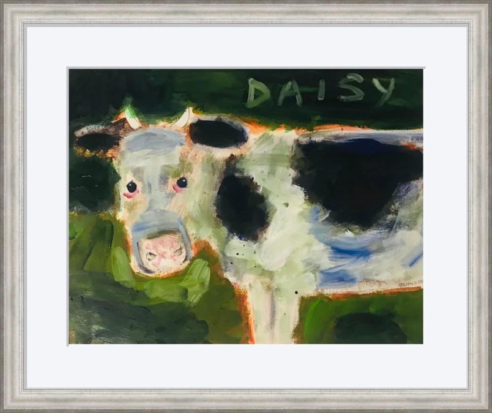 Daisy the Cow Framed