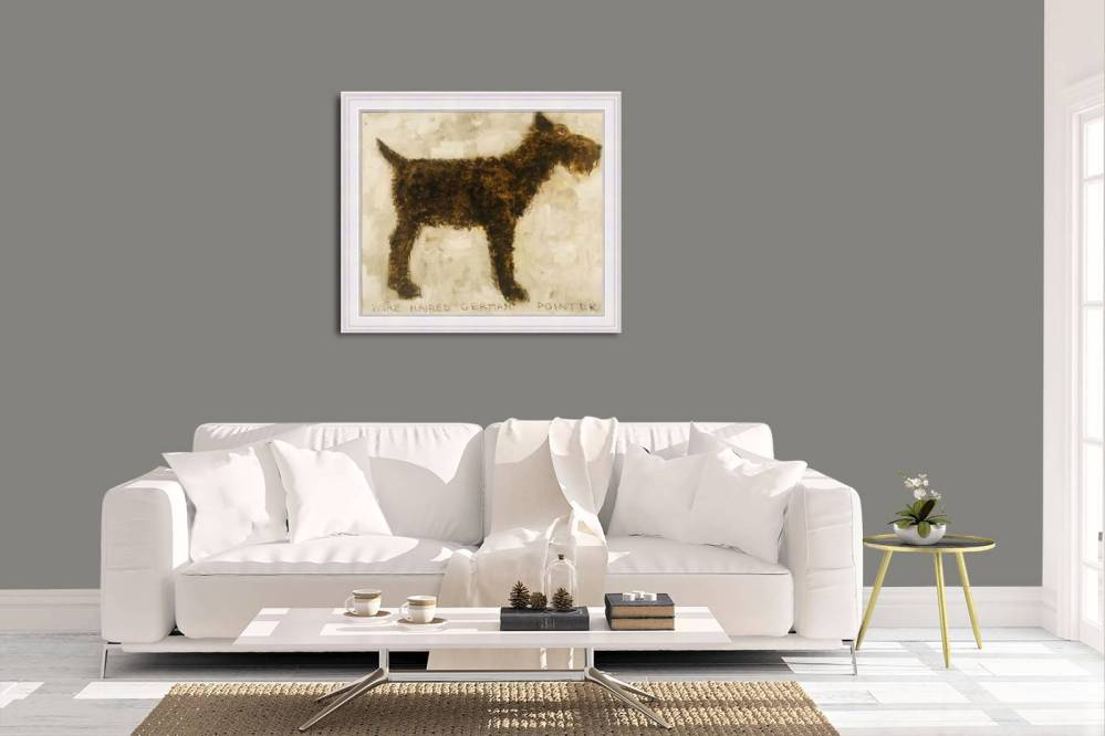 Wire Haired German Pointer In Room