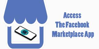 Access Facebook Marketplace App on the Facebook iOS App