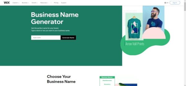 Wix-Business-Name
