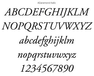 Garamond Italic Fonts