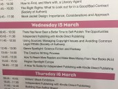 Timetable at Author HQ