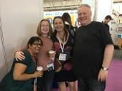 (R-L) Me, Joanna Penn, Pippa DaCosta and AD Starrling