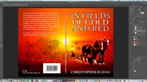 Book design for a novel in progress in Adobe Photoshop CC