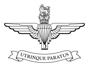Logog and motto of the Parachute Regiment
