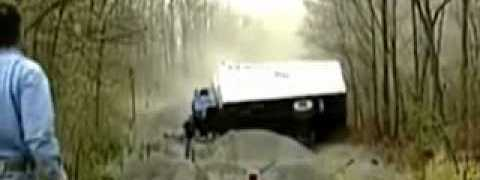 Runaway Truck Driver Has A Bad Day