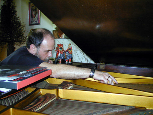 Ben Lindgren on Piano | Photo: Eleanor Lindgren | 2001