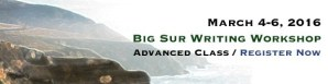 Announcing The Big Sur Children's Writing Workshop/Advanced Master Class, March 4-6th, 2016!!