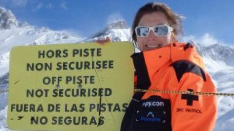 Caroline Elliott, off-piste, ski patroller, avalanche professional, HAT