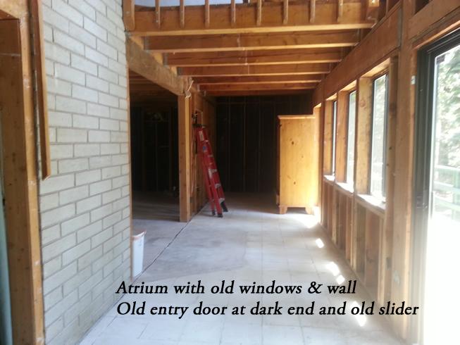 Windows and wall originally