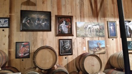 Barrel room art