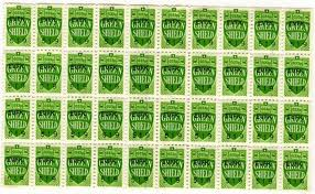 green shild stamps