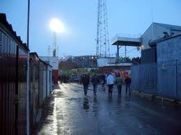 Behind the away stand-Fratton Park