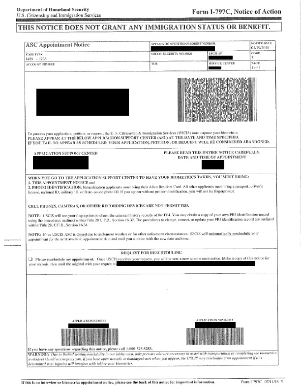 how long after biometrics to get interview for green card