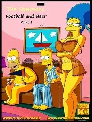 The Simpsons- Football and Beer