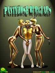 Pantyhose Burglars- [InnocentDickGirl]