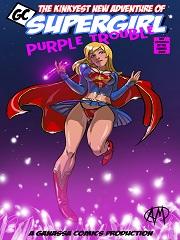 Supergirl Purple Trouble- [Ganassa Comics]